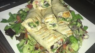 grilled chicken wraps recipe /with salad 🥗