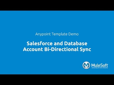 Salesforce and Database Account Bi-Directional Sync - YouTube