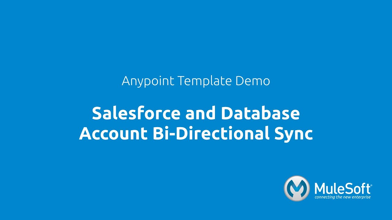 Salesforce and Database Account Bi-Directional Sync