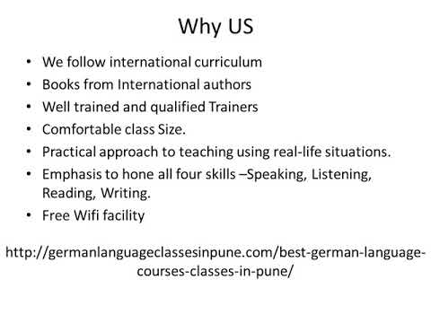 Best-Top German Language Courses-Classes in Pune | German Language Training in Pune