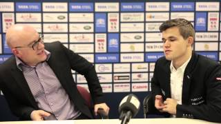 Tata Steel Chess 2015 - Press Conference - Magnus Carlsen final round