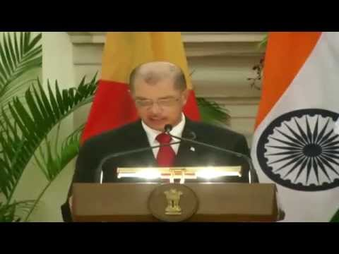 Exchange of Agreements & Press Statements:State visit of President of Seychelles to India