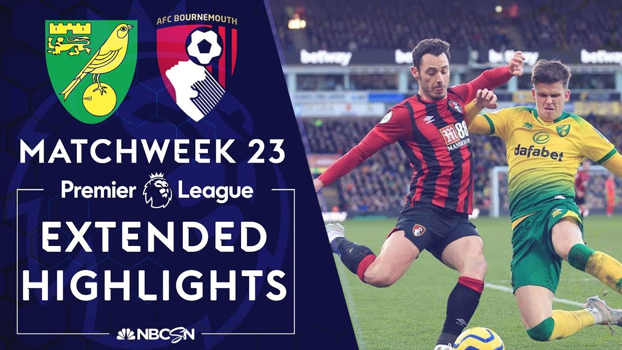 Norwich City v. Bournemouth | PREMIER LEAGUE HIGHLIGHTS | 1/18/2020 | NBC Sports