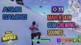 ASMR Gaming | Fortnite Maven Skin Relaxing Gum Chewing Sounds ★Controller Sounds + Whispering☆