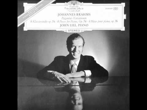 JOHN LILL plays BRAHMS Paganini Variations COMPLETE (1970)