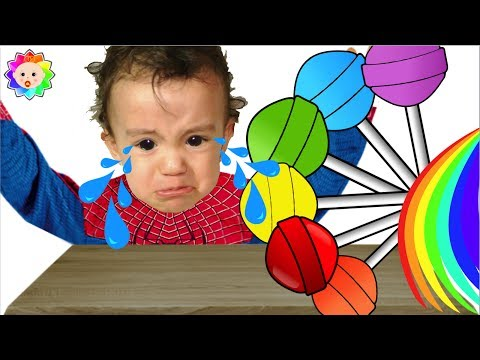 Thumbnail: NEW Bad Baby wit Tantrum and Crying for Lollipops Little Babies Learn Colors with Finger Family Song