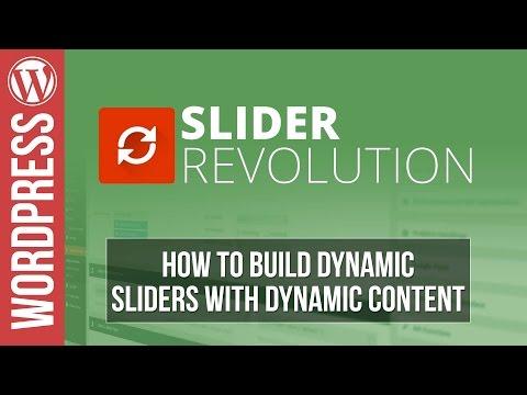 How To Build Dynamic Sliders in Slider Revolution 5 for Wordpress