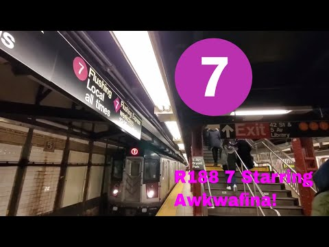 NYCT Subway: R188 7 Train Awkwafina Announcements (To Flushing & 34 St)