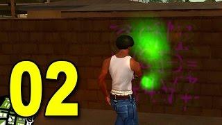 Grand Theft Auto: San Andreas - Part 2 - Tag the Hood (GTA Walkthrough / Gameplay)