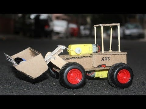How to make a Bulldozer with cardboard - RC Buldozer