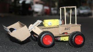 How to make a Bulldozer with cardboard - RC Buldozer