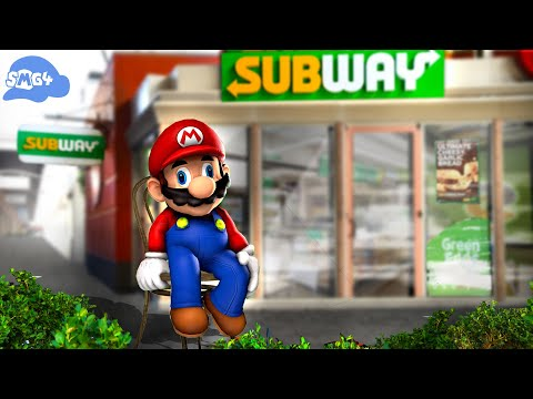 SMG4: Mario goes to subway and purchases 1 tuna sub with extra mayo
