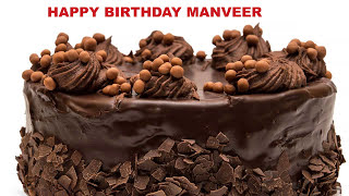 Manveer  Cakes Pasteles - Happy Birthday