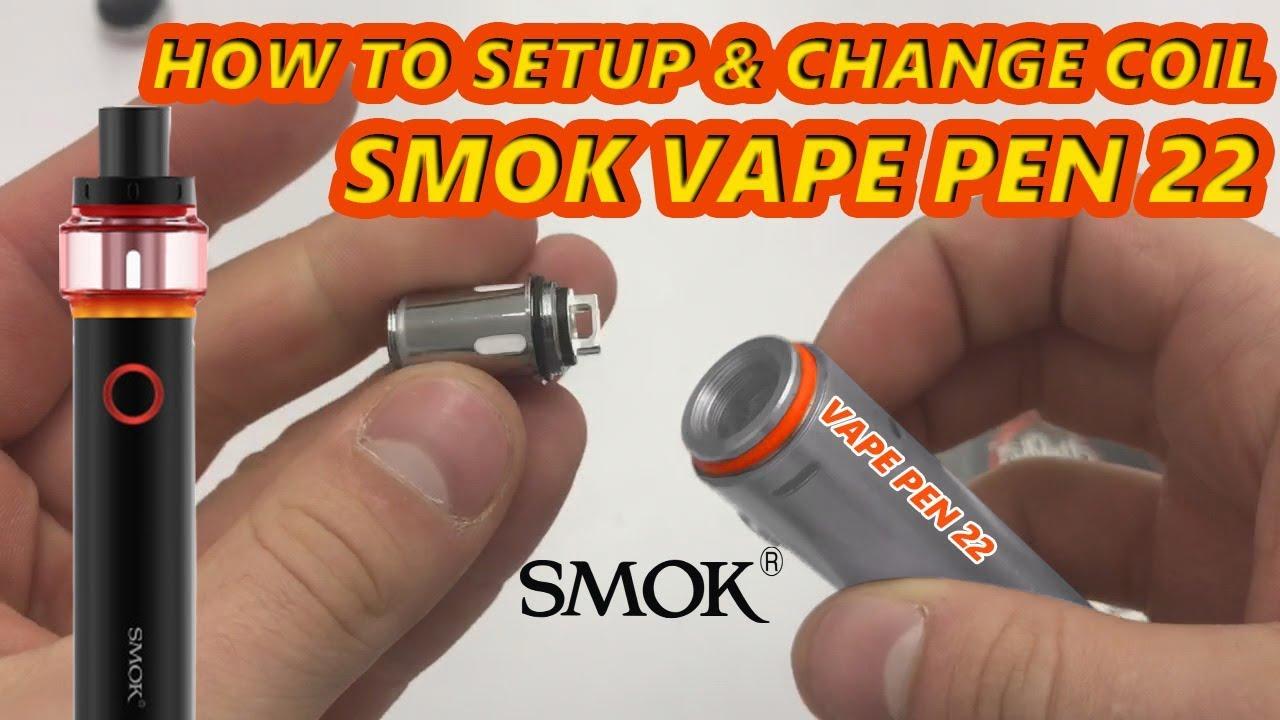 How To Setup | Change Coil | Open | Fill Smok Vape Pen 22 & Light Edition  Tutorial Mesh Coils