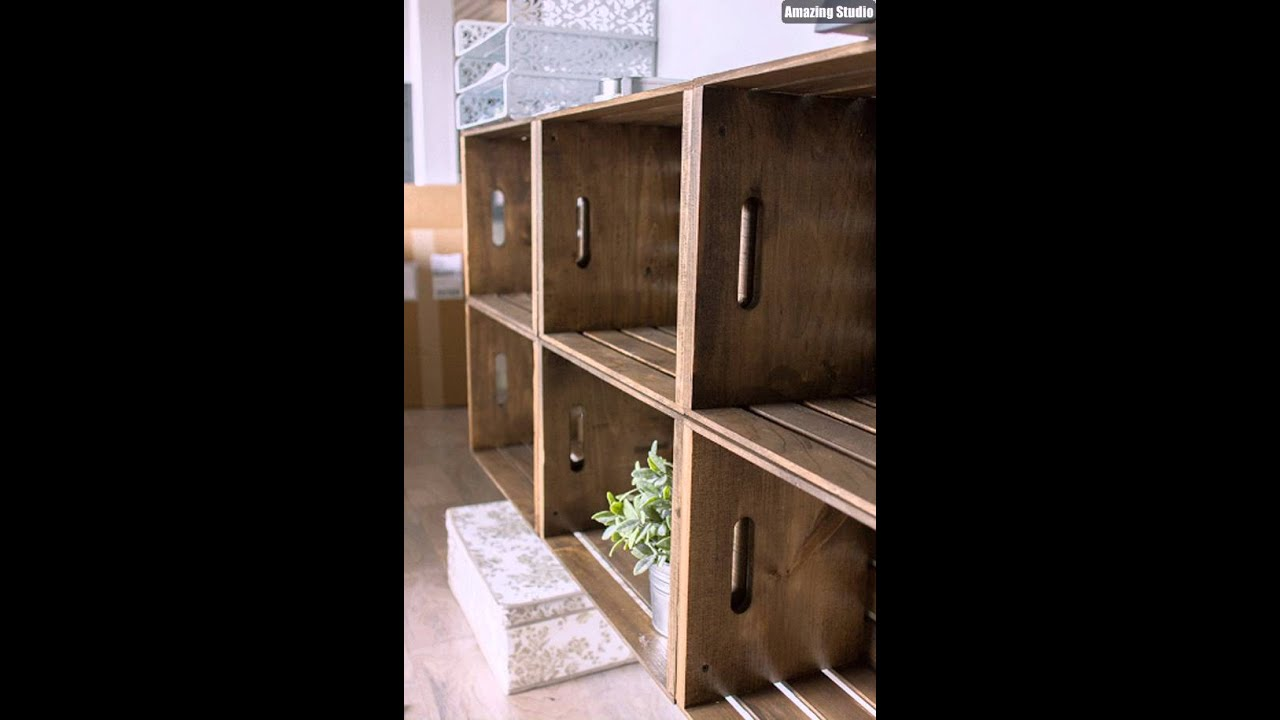 Diy Crate Storage Wall Unit Youtube