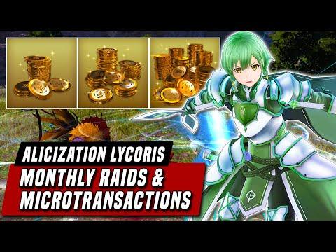 Monthly Raids & Microtransactions (SAO Coins / CUBEs) - Sword Art Online: Alicization Lycoris