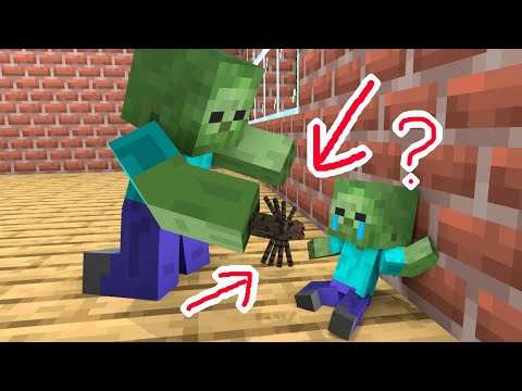 Monster School : Find the Baby Zombie Mother - Minecraft Animation - Видео онлайн