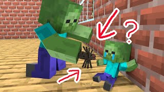 Monster School : Find the Baby Zombie Mother  Minecraft Animation