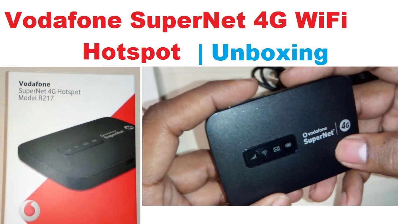 Vodafone SuperNet 4G WiFi Hotspot Model R217 | Vodafone 4G WiFi Hotspot  Unboxing in Hindi