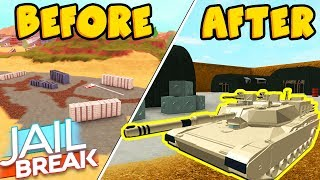 MILITARY BASE LEAKED EARLY! *JAILBREAK DESERT UPDATE* (Roblox)