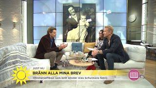 """Otrohetsdrama slet sönder Alex Schulmans famlij: """"Vill ge mormor en röst"""" - Nyhetsmorgon (TV4)"""