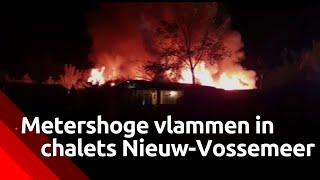 Bewoonster van chalet ontsnapt aan vlammenzee op camping in Nieuw-Vossemeer