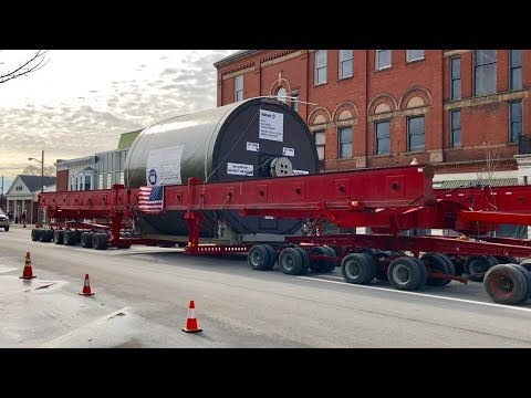 Huge Oversized Load Moved Through Center Of City!