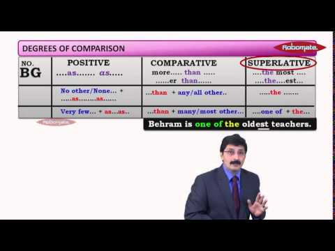 Std IX - SA 2 - English Grammar Degrees of Comparison