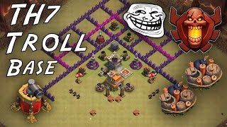 Clash of Clans - Town Hall 7 (CoC TH7) Troll Base Speed Build