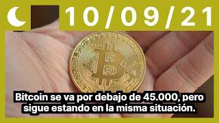 Bitcoin se va por debajo de 45.000, pero sigue estando en la misma situación.