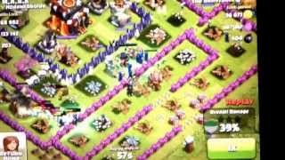 Clash of a Clans 18 Level 2 Maxed Witches in Action - High Level Troop Attack over 400 Thousand