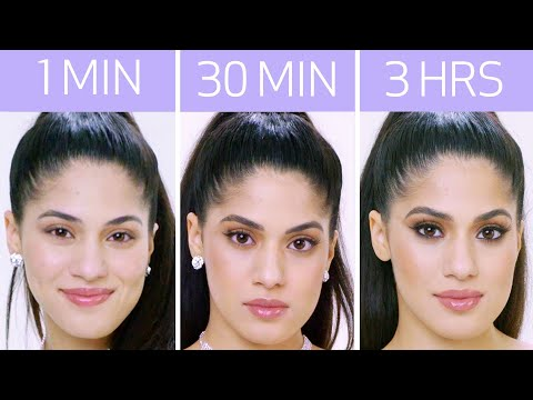 Getting Ariana Grande's Look in 1 Minute, 30 Minutes, and 3 Hours | Beauty Over Time | Allure