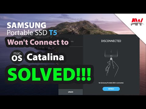 Cannot access Samsung Portable SSD T5 and T7 on macOS 10.15 Catalina? This is how.