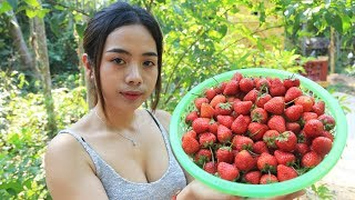 Yummy cooking strawberry with salt recipe  Cooking skill