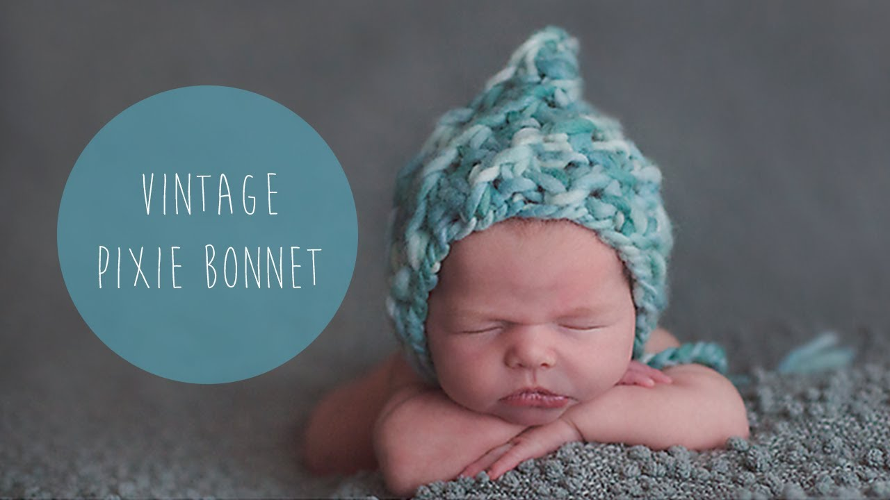 KNITTING TUTORIAL - FAST AND EASY CHUNKY NEWBORN HAT - YouTube
