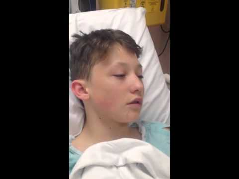KID ON LAUGHING GAS AFTER SURGERY
