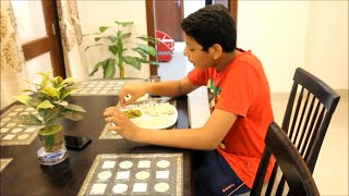 INDIAN LUNCH ROUTINE    Indian Lunch and dinner Thali    Palak Curry , Boondi Raita , Food Vlogs