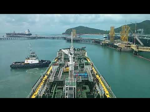 Oil Tanker Berthing on Oil Terminal