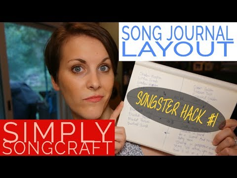 Songster hack #1 song journal layout for clearer writing   Simply Songcraft