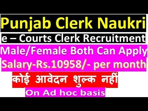 Clerk Job In Punjab    e – Courts Clerk Recruitment    Latest Punjab Recruitment    B.A/Science