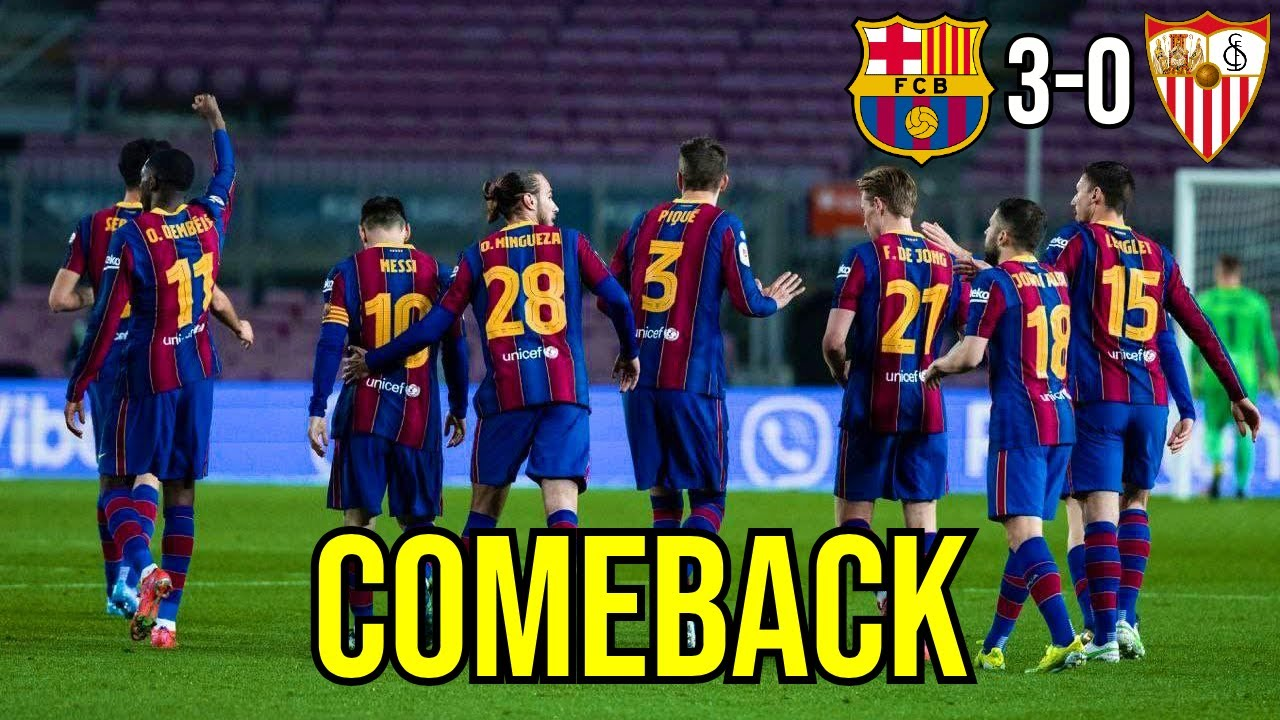PIQUE LEADS EPIC COMEBACK   IS THIS A TURNING POINT?   BARCELONA VS SEVILLA 3-0   MATCH REVIEW