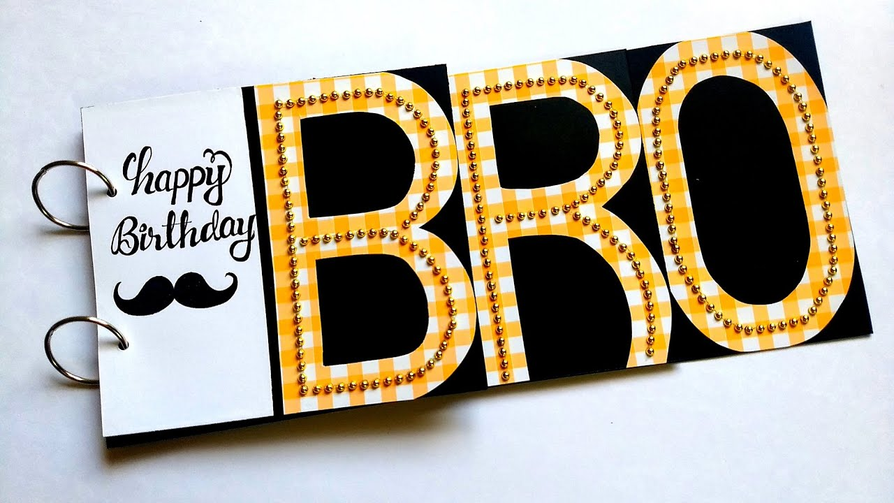 Beautiful Handmade Birthday Card Idea | Birthday Card for Brother | Tutorial