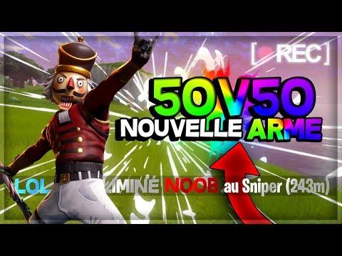 50 VS 50 TOP 1/ON TESTE LA NOUVELLE ARME !