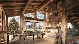 Christmas Morning Ambience  Relaxing Christmas Music, Fireplace Sounds, Instrumental Christmas