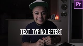 Text Typing Effect in Adobe Premier...
