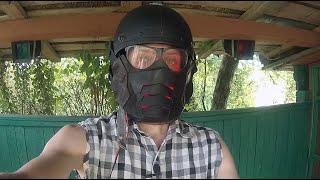 Мото маска с ПОДСВЕТКОЙ своими руками