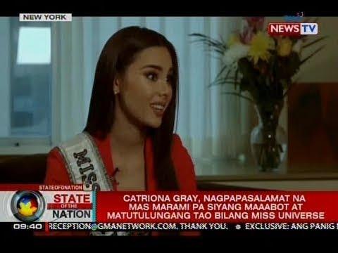 SONA: Catriona Gray, abot-abot ang pasasalamat sa matinding suporta sa kaniya ng mga Pinoy
