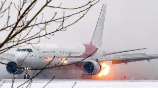 *Compressor Stall!* Ex- Air Algerie Boeing 767-300 (B763) landing in Montreal (YUL/CYUL)