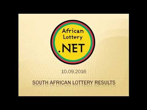 South Africa Lotto results - 10.09.2016