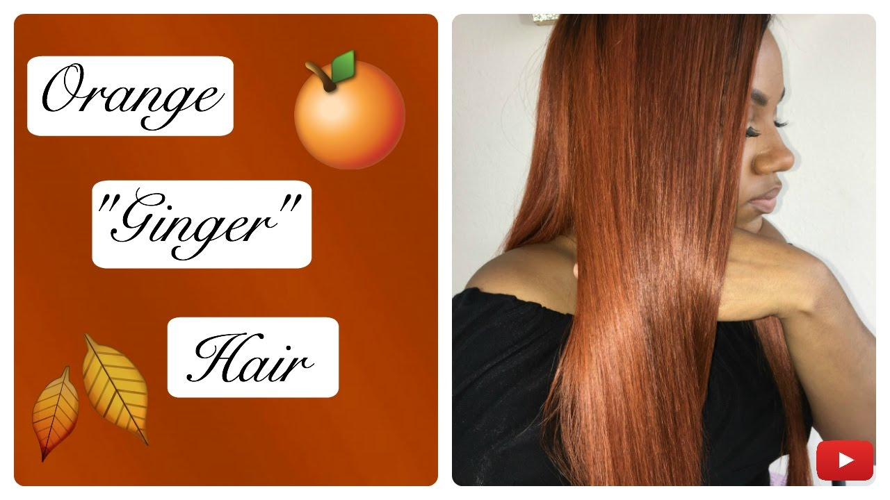 How to color your hair orange ginger with semi permanent rinse brittonyah also rh youtube